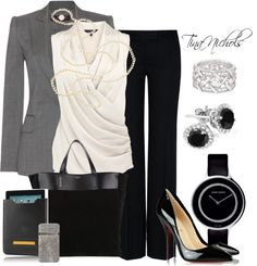 """""""The High Powered Business Meeting - 2"""" by tina-nichols ❤ liked on Polyvore"""