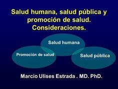 Salud humana, salud pública y promoción de salud. Consideraciones. Marcio Ulises…