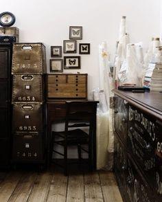industrial cabinets & butterflies