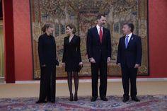 Foro Hispanico de Opiniones sobre la Realeza: Los Reyes, en la recepción ofrecida por el Presidente de Colombia en el Palacio de El Pardo. 03.03.2015