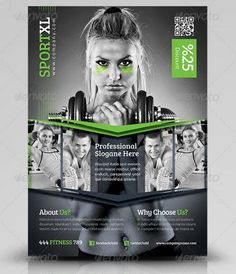 Flyer / Flier Templates for Business Graphic Design Flyer, Brochure Design, Flyer Design, Template Web, Flyer Template, Templates, Advertising Flyers, Advertising Design, Fitness Flyer