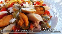 Ensalada de proteínas Dukan (desde Ataque) Dukan Diet, Low Carb Diet, Homemade Beauty Products, I Foods, Health Fitness, Cooking Recipes, Meat, Chicken, Recetas Light