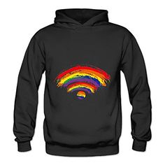 Lennakay Work Adults Wifi Hooded Sweatshirt With No Pocket Black For Woman SizeXXL *** Check out this great product.