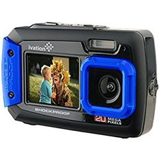 """For less then $60.00 the Ivation 20MP Underwater Shockproof Digital Camera & Video Camera is Waterproof up to 10 Feet, Dustproof and Shockproof. It captures 20MP Photos & 640 x 480 Videos;  Dual Full-Color LCD Displays:  2.7"""" Rear-Facing & 1.8"""" Front-Facing (Selfie) and 4x Digital Zoom & Built-In Flash."""