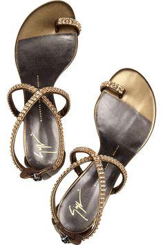 sandália customizado com corrente de strass. www.ldicristais.com.br  #Giuseppe Zanotti Love these