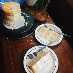 tender, moist, fluffy coconut milk cake (made with cake flour, egg white only, and plenty of butter) with amazing coconut milk swiss meringue buttercream; topped with homemade coconut cream caramel