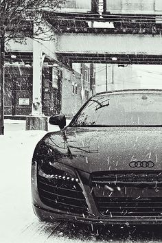 """Taking the Audi out for a spin in the cold today? This """"Winter Driving Surival Guide"""" by might help. Be safe! Audi R8 V10, Vw T5, Volkswagen Golf, Sexy Cars, Hot Cars, Nissan 350z, Toyota Celica T23, My Dream Car, Dream Cars"""