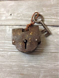 Vintage Lock and Key Set by AttractLLC on Etsy, $18.00