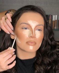 Nose Contouring, Contour Makeup, Eyebrow Makeup, Skin Makeup, Glam Makeup Look, Cute Makeup, Makeup Looks, Makeup Artist Tips, Eye Makeup Tips