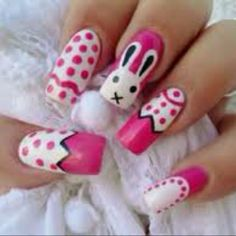Another set of Easter nail art.
