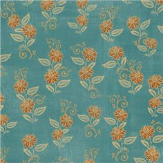 blue floral pattern by SEI