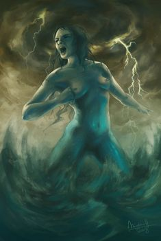 Vellamo: The Goddess of water, waves and storm in Finnish mythology. (by Minttu Hynninen)