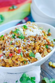 Mexican Street Corn Salad is a dish you'll want to serve all summer, and one you'll think about all winter! It's easy to make and it makes any summer meal complete. Once you try it, you'll want to make it often.