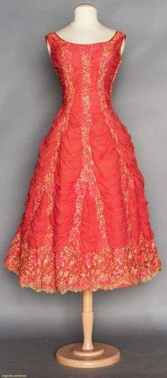 CEIL CHAPMAN EVENING DRESS, 1950s by Terese Vernita