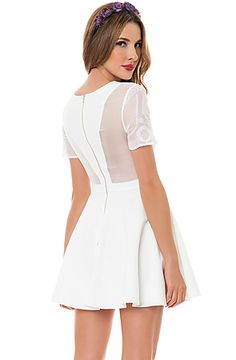 The Tiny Dancer Dress in White by Finders Keepers