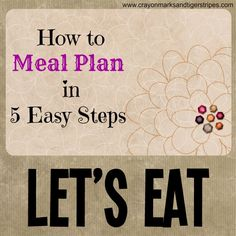 5 tips to meal planning