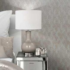 A Beautifully Textured Design With A Stunning Metallic Finish Oozing With Style . Wallpaper Uk, Feature Wallpaper, Luxury Wallpaper, Contemporary Wallpaper, Designer Wallpaper Brands, Rose Gold Bed, Gold Metallic Wallpaper, Kylie Minogue At Home, Stunning Wallpapers