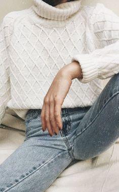 cable knit turtlenecks + levi's skinny jeans #ootd