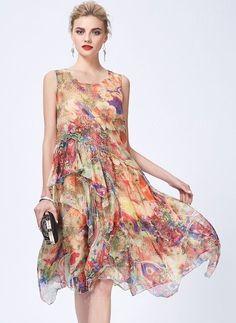 Dress - $69.09 - Floral Sleeveless Knee-Length A-line Dress (1955118308)