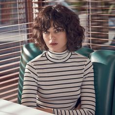 Urban Outfitters Breton Striped Ribbed Turtleneck Top