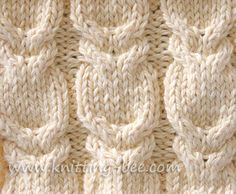 Love cable and cable variations - this is how to knit a double cable or horse...