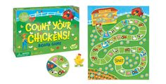 Practice counting and cooperation with Count Your Chickens.  Ages 3 and up.