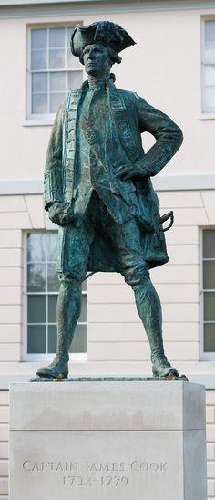 Located Near Hotel Villa Fiorentina, Captain James Cook FRS November 1728 Captain James Cook, Captain Hook, Bronze Sculpture, Sculpture Art, Living Statue, Easy Arts And Crafts, British History, Statues, Aussies