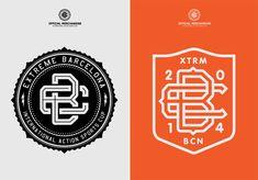 Extreme Barcelona 2014 on Behance Typography Logo, Logo Branding, Branding Design, Logo Design, Brand Identity, Initial Logo, Monogram Logo, Clothing Brand Logos, Brand Book