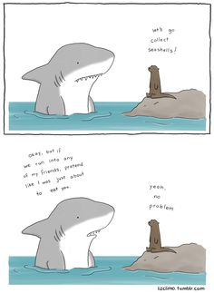 Love this! Sharks aren't really bad they just have a reputation to uphold!