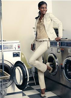 Put In Neutral. Sharpen your suit. Elevate your jeans, take a skirt to new heights. Go for an ultra versatile neutral. Top and exude sophistication day to night. #GoodCleanFun #Laundromat #Neutral #TheLimited #ExudeSophistication