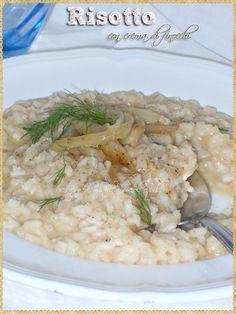 Risotto con crema di finocchi (Risotto with fennel cream)
