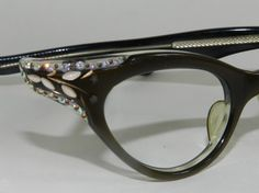 Vintage VICTORY Rhinestone Cat Eye Glasses