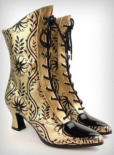 Gilded love letter Victorian boots #shoes #shoe #boot                                                                                                                                                                                 More