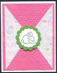 Quick and easy card for Easter. Love it!