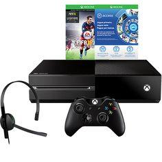 (Shoptime) Console Xbox One 500GB Edição Limitada + Game FIFA 16 ( Via Download ) + 1 Mês de EA Access + Headset + Controle - de R$ 3217.6…