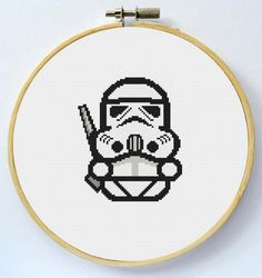 STORMTROOPER Cross Stitch Pattern Instant by LaEsquinaDeLuna