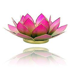 Lotus sfeerlicht groen/roze 2-kleurig - 13.5 cm - bijzonder