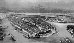 Before Ellis Island Existed, Castle Garden Welcomed Houdini and Typhoid Mary How a one-time beer garden became an immigration hub. Ellis Island Immigrants, Vintage New York, What The World, Beer Garden, Jersey City, Aerial View, American History, New York City, Castle