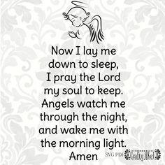 Now I Lay Me Down to Sleep  Children's Prayer  Bedtime | Etsy