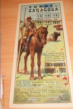 Resultado de imagen de cartel feria toros zaragoza 2017