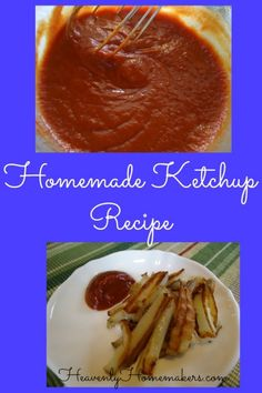 I finally attempted to make homemade ketchup. This recipe is easy and it tastes great! Homemade Ketchup Recipes, Homemade Fries, Homemade Mayonnaise, Homemade Seasonings, Other Recipes, Real Food Recipes, Cooking Recipes, Free Recipes, Good Food