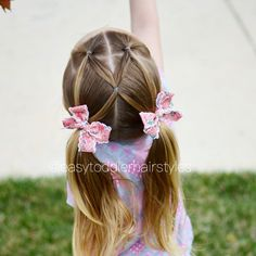 "360 Likes, 21 Comments - Tiffany ❤️ Hair For Toddlers (@easytoddlerhairstyles) on Instagram: ""5 minute pigtail hairstyle. We first did this style about a year ago and demonstrated it on…"""