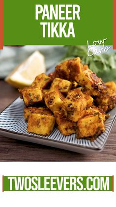Instant Pot Paneer Tikka Make this low carb quick Paneer Tikka, an Indian cheese, with just a few spices, and pan fry in ghee for a boost of fat to make this keto friendly. Veg Recipes, Spicy Recipes, Curry Recipes, Indian Food Recipes, Snacks Recipes, Easy Indian Vegetarian Recipes, Healthy Indian Food, Authentic Indian Recipes, Quick Indian Snacks