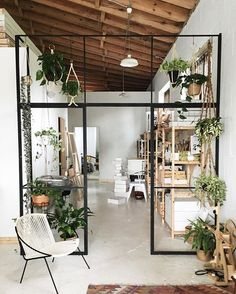 bars and hangy plants for the bonus room!