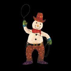 Christmas Yard Decoration Tinsel Cowboy Snowman Pre Lit Home Accents Holiday Cheap Rustic Decor, Rustic Wall Decor, Home Decor Wall Art, Seasonal Decor, Fall Decor, Holiday Decor, Western Christmas, Home Decor Near Me, Christmas Inflatables