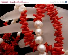 On Sale Sterling Silver Sardinian Red by TheJewelryLadysStore, $127.10