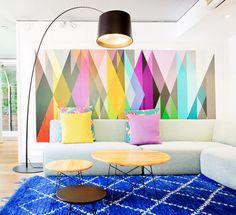 Veja incríveis referências de decoração com formas e detalhes geométricos. São mais de 65 fotos para se inspirar.