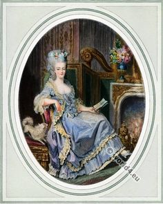 Queen Marie Antoinette. France Hat styles. French Rococo Costumes. Rose Bertin.