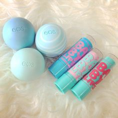 I love baby lips and EOS lip balm I think that they are really moisturizing and all the different scents. Cute Makeup, Beauty Makeup, Gloss Labial, Eos Products, Eos Lip Balm, Lip Balms, Lip Care, Makeup Collection, Girly Things
