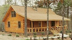Amazing log homes/cottages on this website! #LogHomes #tinyhomeplanscabinkit